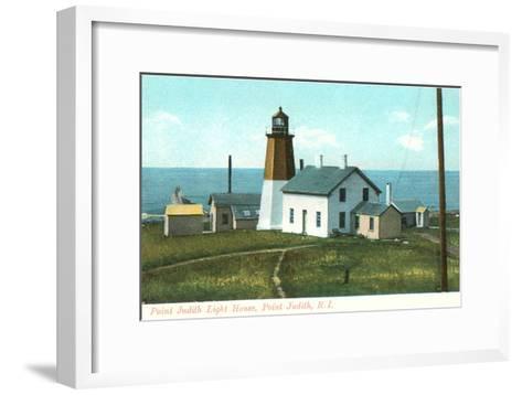 Point Judith Lighthouse, Rhode Island--Framed Art Print