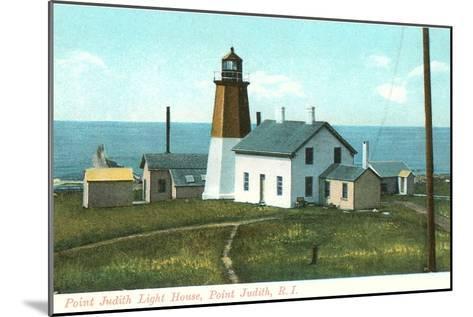 Point Judith Lighthouse, Rhode Island--Mounted Art Print