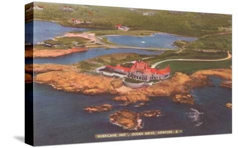 Hurricane Hut, Ocean Drive, Newport, Rhode Island--Stretched Canvas Print