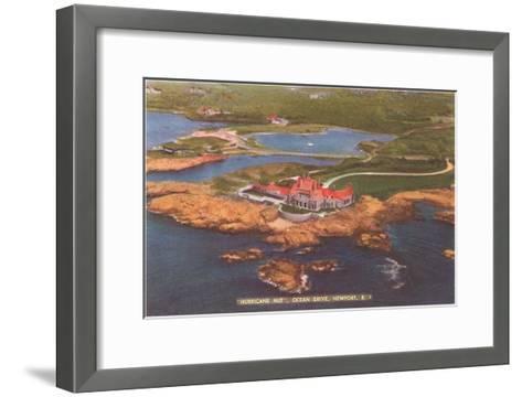 Hurricane Hut, Ocean Drive, Newport, Rhode Island--Framed Art Print
