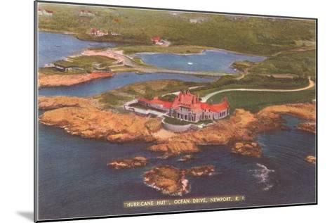 Hurricane Hut, Ocean Drive, Newport, Rhode Island--Mounted Art Print