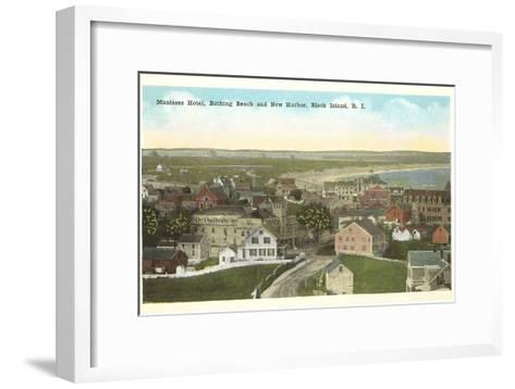 Manisses Hotel, Block Island, Rhode Island--Framed Art Print