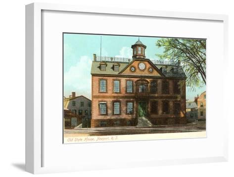 Old State House, Newport, Rhode Island--Framed Art Print