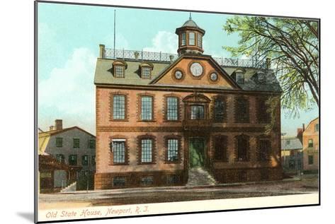 Old State House, Newport, Rhode Island--Mounted Art Print