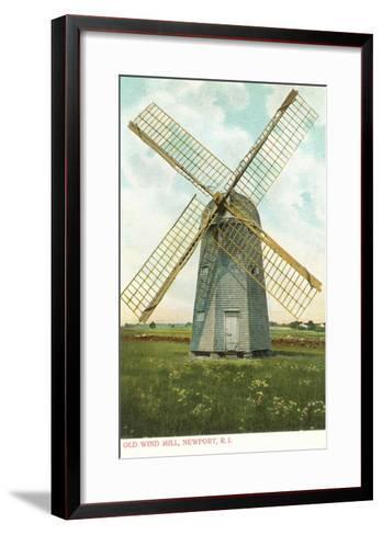 Wind Mill, Newport, Rhode Island--Framed Art Print