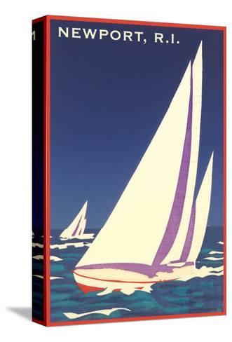 Newport, Rhode Island, Sailboat Graphics--Stretched Canvas Print
