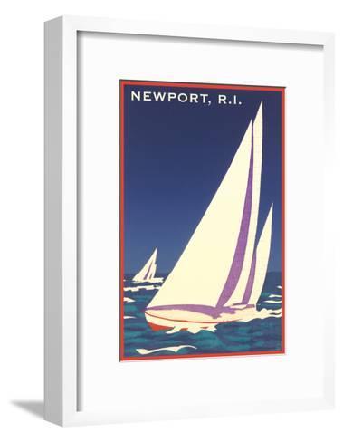 Newport, Rhode Island, Sailboat Graphics--Framed Art Print