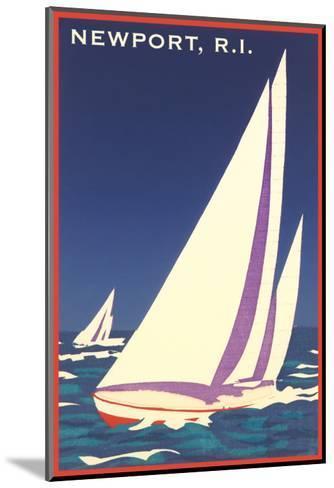 Newport, Rhode Island, Sailboat Graphics--Mounted Art Print