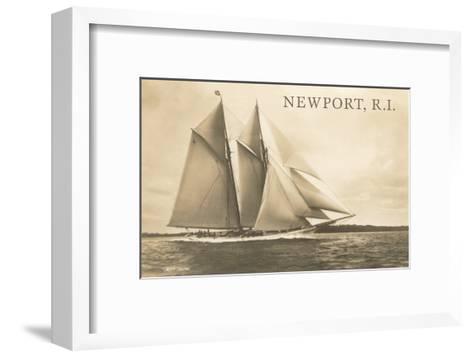 Gaff-Rigged Schooner, Newport, Rhode Island--Framed Art Print