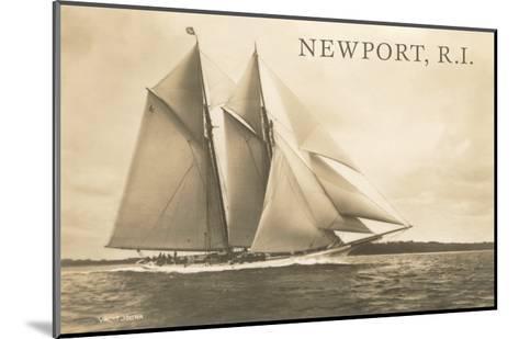 Gaff-Rigged Schooner, Newport, Rhode Island--Mounted Art Print