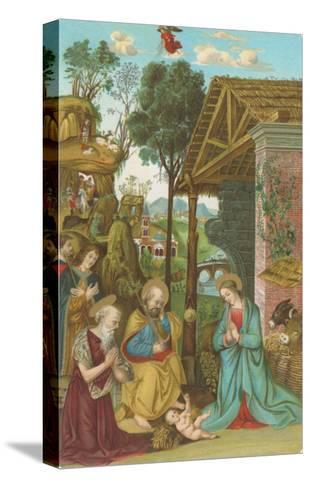 Nativity Scene by Pinturicchio, Rome--Stretched Canvas Print
