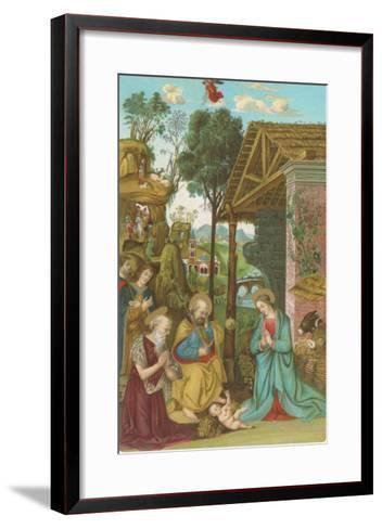 Nativity Scene by Pinturicchio, Rome--Framed Art Print