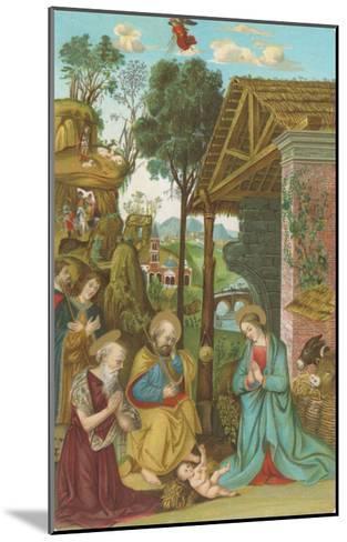 Nativity Scene by Pinturicchio, Rome--Mounted Art Print