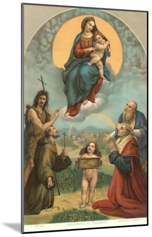 Madonna of the Foligno by Raphael, Rome--Mounted Art Print
