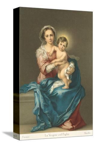 Madonna and Child by Murillo, Florence--Stretched Canvas Print
