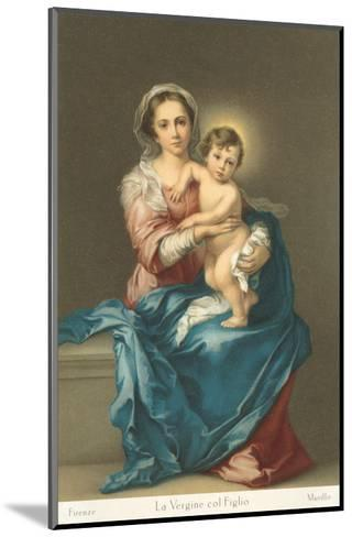 Madonna and Child by Murillo, Florence--Mounted Art Print