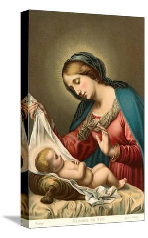 Madonna of the Veil--Stretched Canvas Print