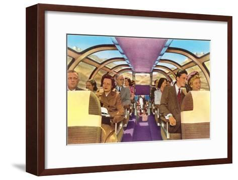 Passengers in Train's Viewing Compartment--Framed Art Print