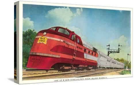 Streamliner, Rock Island Rocket--Stretched Canvas Print