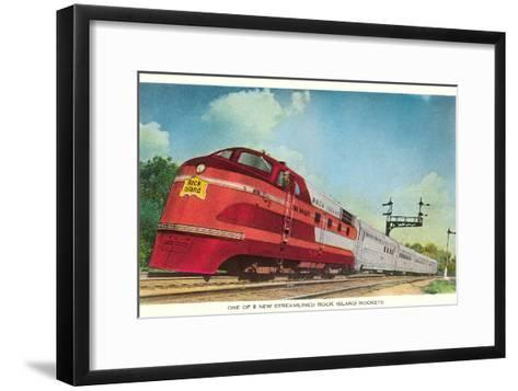 Streamliner, Rock Island Rocket--Framed Art Print