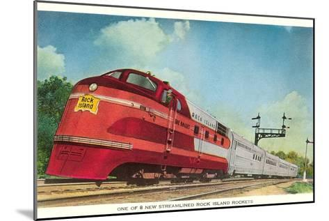 Streamliner, Rock Island Rocket--Mounted Art Print