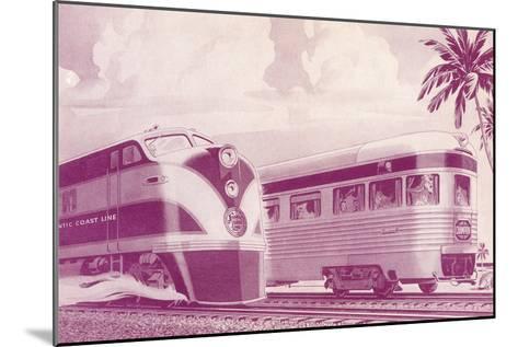 Passing Trains--Mounted Art Print