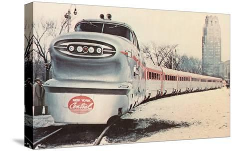Streamlined New York Central Train--Stretched Canvas Print