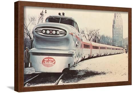 Streamlined New York Central Train--Framed Art Print