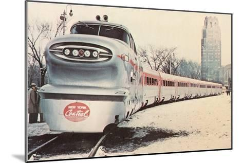 Streamlined New York Central Train--Mounted Art Print