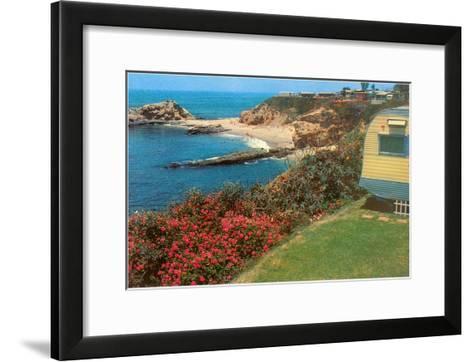 Trailer by the Sea--Framed Art Print