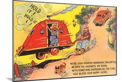 Travel Trailer Cartoon--Mounted Art Print