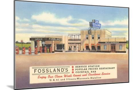 Fossland's Service Station--Mounted Art Print