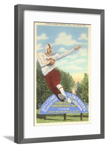 World's Largest Football Player Sign--Framed Art Print