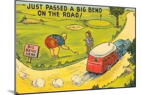 Travel Humor, Cartoon--Mounted Art Print