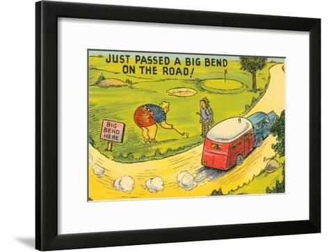Travel Humor, Cartoon--Framed Art Print