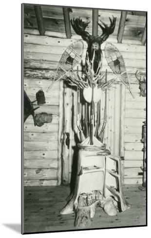 Moose Head, Snowshoes, Trunk Cabinet--Mounted Art Print