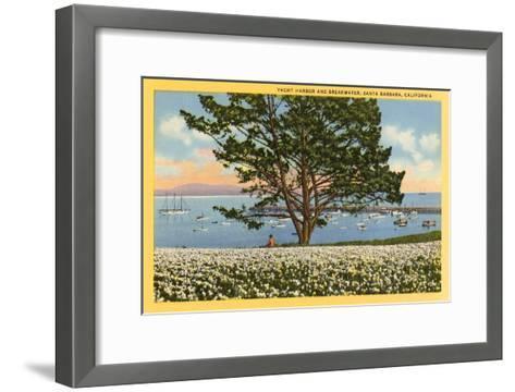 Yacht Harbor, Santa Barbara, California--Framed Art Print