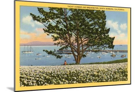 Yacht Harbor, Santa Barbara, California--Mounted Art Print