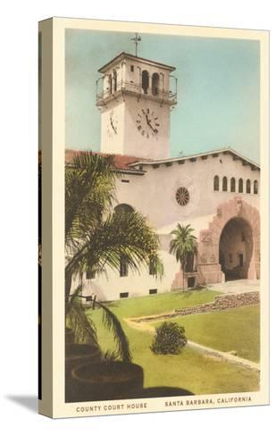Courthouse, Santa Barbara, California--Stretched Canvas Print