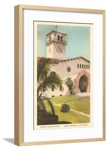 Courthouse, Santa Barbara, California--Framed Art Print