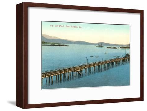 Pier and Wharf, Santa Barbara, California--Framed Art Print