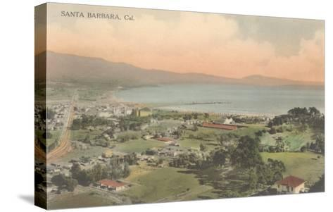 Early Overview of Santa Barbara, California--Stretched Canvas Print