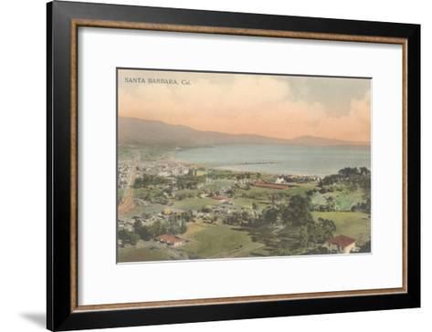 Early Overview of Santa Barbara, California--Framed Art Print