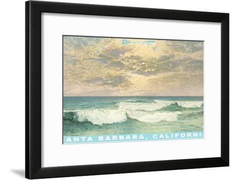 Waves at Santa Barbara, California--Framed Art Print