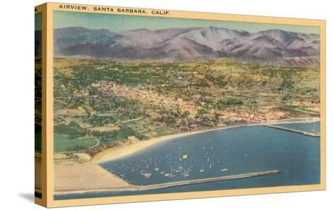 Overview of Santa Barbara, California--Stretched Canvas Print