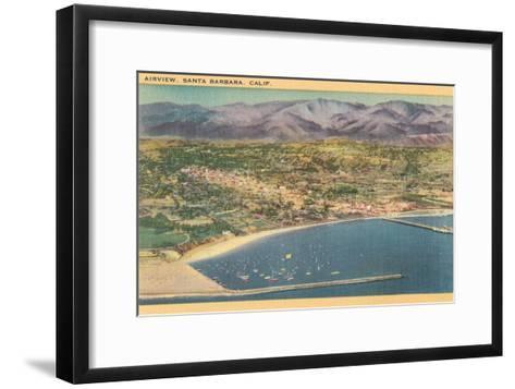 Overview of Santa Barbara, California--Framed Art Print