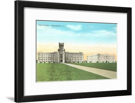The Citadel, Charleston, South Carolina--Framed Art Print