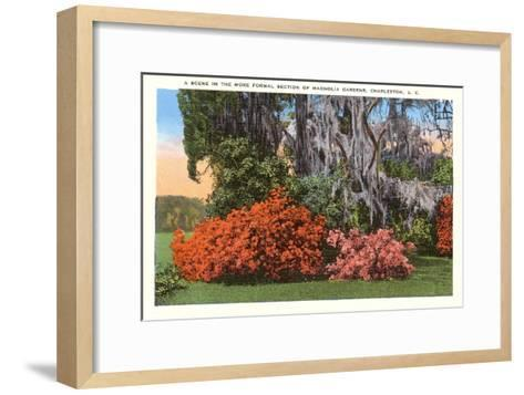 Magnolia Gardens, Charleston, South Carolina--Framed Art Print