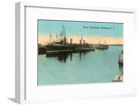 Navy Dockyard, Charleston, South Carolina--Framed Art Print