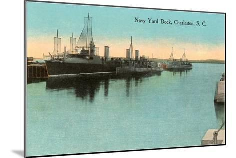 Navy Dockyard, Charleston, South Carolina--Mounted Art Print